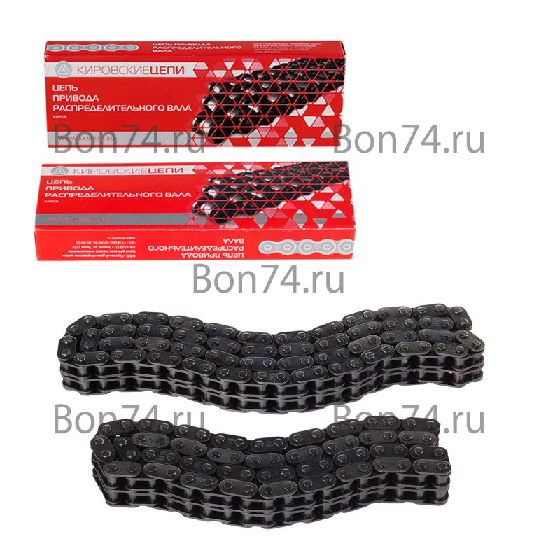 Комплект двухрядной цепи привода ГРМ ЗМЗ 405/409 Евро 2 АКМАШ г. Киров (92/72 звена, с диаметром втулки 5,05 mm) Код:729227
